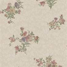Nicolette Taupe Photo Real Floral