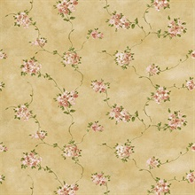 Nora Beige Misty Floral Wallpaper