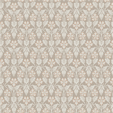 Nora Light Brown Ogee Wallpaper