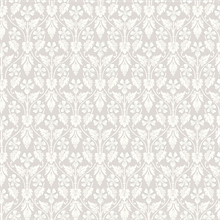 Nora Light Grey Ogee Wallpaper