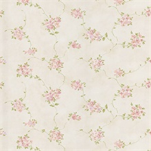 Nora Pink Misty Floral Wallpaper