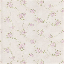 Nora Purple Misty Floral Wallpaper
