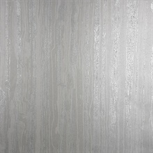 Nova Silver Faux Wood Wallpaper