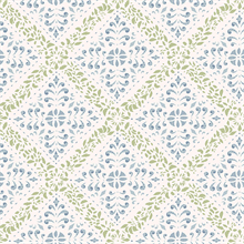 Nyborg Blue Ornamental Geometric Wallpaper