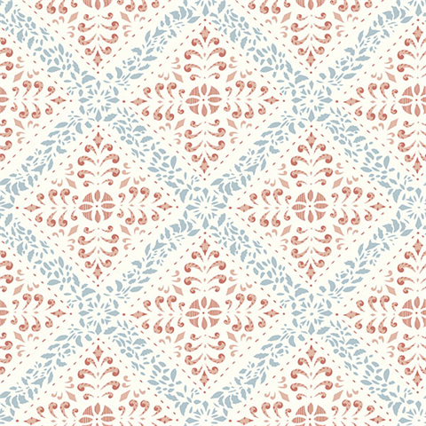 Nyborg Multicolor Ornamental Geometric Wallpaper