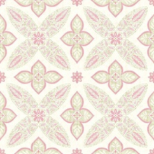 Off Beat Ethnic Pink Geometric Floral