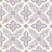 Off Beat Ethnic Violet Geometric Floral