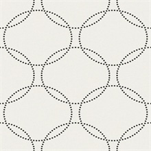 Off White Glass Bead Textured Circles Wallpaper