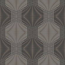 Optic Brown Geometric Wallpaper