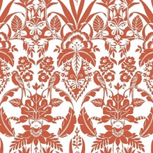 Orange Botanical Damask
