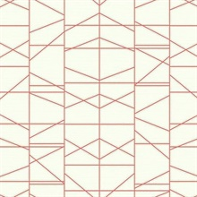 Orange Modern Perspective Geometric Wallpaper