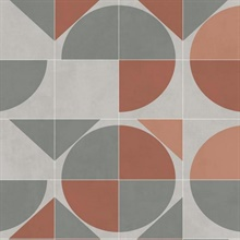 Orange Radius Geometric Wallpaper