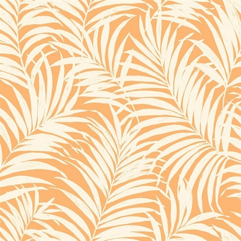 Orange White Commercial Tropical Palm Leaves Wallpaper Orange Tropical Palm Leaves 54 Wallcovering A collection of the top 34 tropical leaves wallpapers and backgrounds available for download for free. orange white commercial tropical palm leaves wallpaper