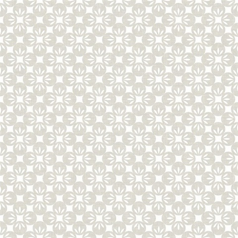 Orbit Neutral Floral Wallpaper