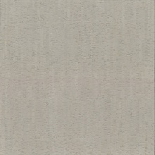 Silver Plain Bamboo Textured Cork Wallpaper