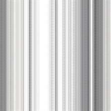 Organic Multistripe Grey & Black Wallpaper