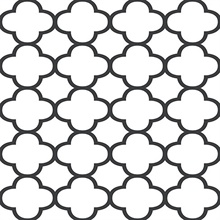 Origin Black Quatrefoil