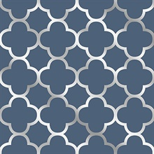 Origin Blue Quatrefoil