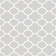 Origin Grey Quatrefoil
