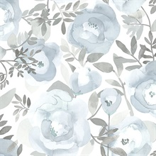 Orla Blue Floral Wallpaper