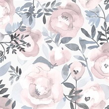 Orla Purple Floral Wallpaper