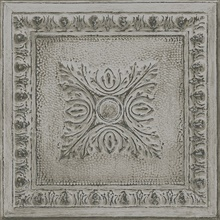 Ornamental Grey Tin Tile Wallpaper