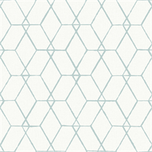 Osterlen Teal Trellis Wallpaper