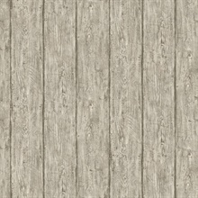 Outerbanks Grey Faux Wood Wallpaper