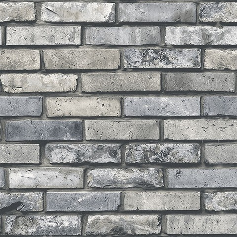 Weathered Painted Grey Brick
