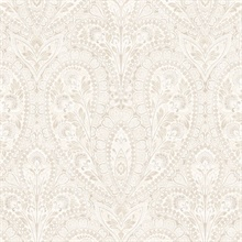 Paisley Beige & Taupe Wallpaper