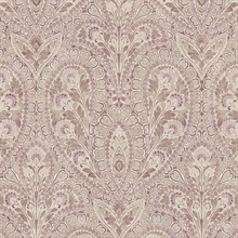 Paisley Burgundy & Plum Wallpaper