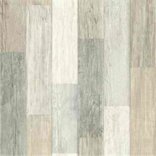 Grey Faux Wood Vertical Pallet Board Wallpaper