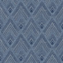 Panama Geometric Blue Wallpaper