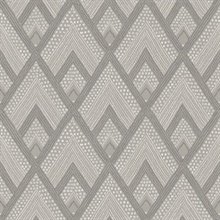 Panama Geometric Grey Wallpaper