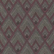 Panama Geometric Maroon Wallpaper