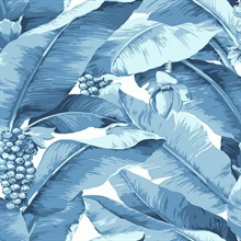 Paradisio Tropical Palm Tree Blue Wallpaper