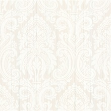 Paris White Damask