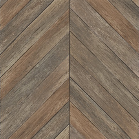 Parisian Brown Parquet Wallpaper