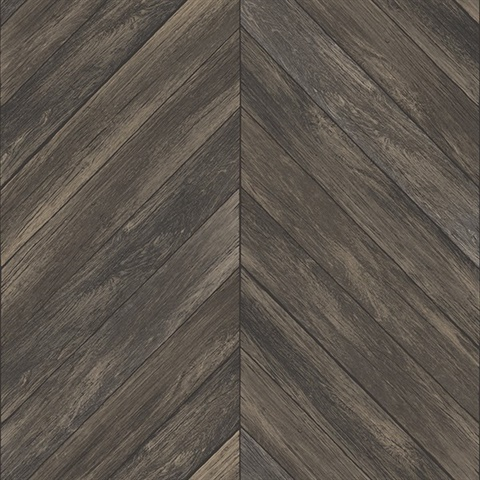 Parisian Espresso Parquet Wallpaper