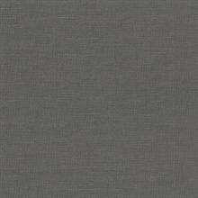 Parker Charcoal Faux Linen Vinyl Wallpaper