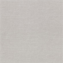 Parker Grey Faux Linen Vinyl Wallpaper
