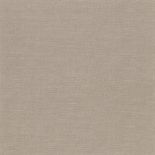 Parker Light Brown Faux Linen Vinyl Wallpaper