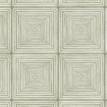 Parquet Geometric Light Green Wood Squares Wallpaper