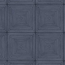 Parquet Geometric Navy Blue Wood Squares Wallpaper
