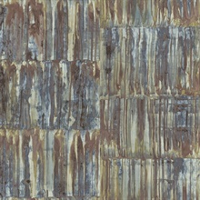 Patina Panels Multicolor Metal Wallpaper