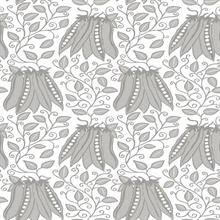 Peas in a Pod Light Grey Garden Wallpaper