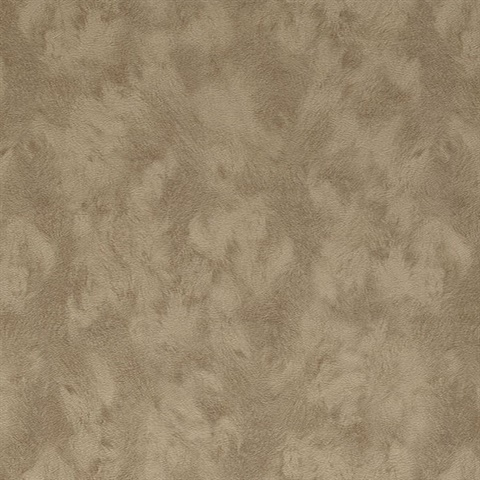 Pennine Khaki Pony Leather Hide Textured Wallpaper