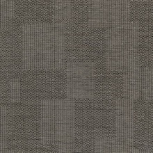 Perdito Dark Brown Checked Plaid Linen Commercial Wallpaper