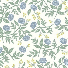 Periwinkle & Sage Large Scale Floral Peonies Rifle Paper Wallpaper