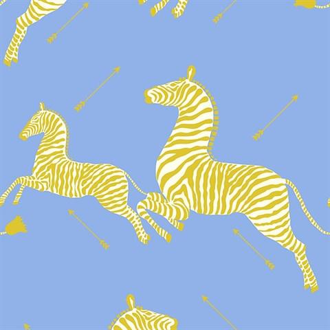 Periwinkle Zebra Wallpaper